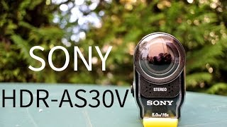 Sony HDR-AS30V action cam unboxing review HD test