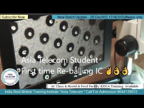 Asia Telecom Student First time Re-balling 👌 Learn Asia Telecom Trick to any reball  IC -India No.1