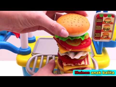 Mainan Jualan Dan Memasak Burger Youtube