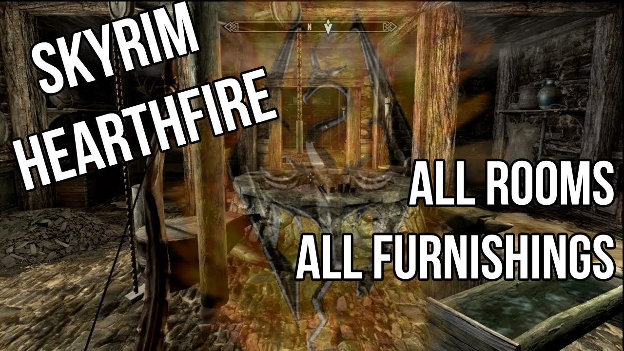 Skyrim Hearthfire All Rooms And Furnishings Complete