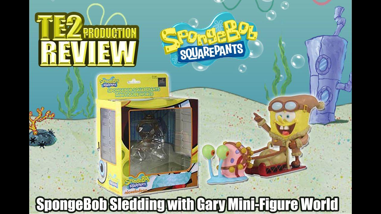 review spongebob sledding with gary mini figure world series 4