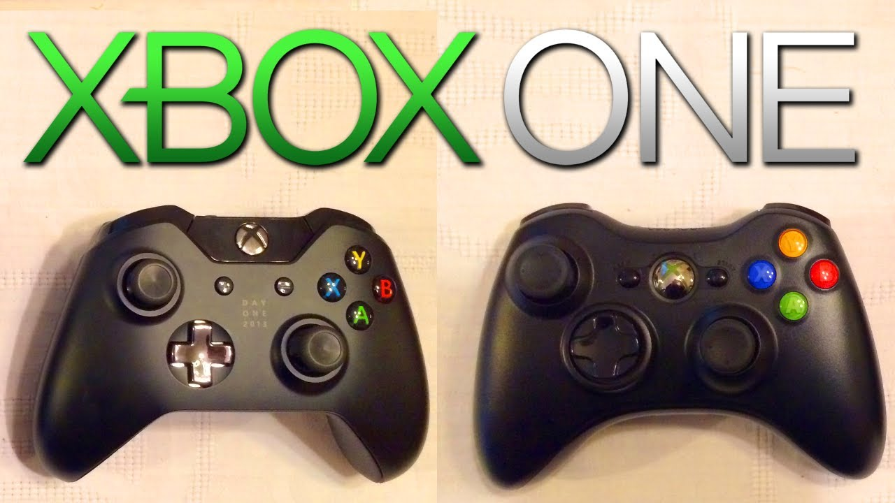 XBOX ONE controller vs Xbox 360! - NEW Day 1 Edition ... Xbox One Vs Xbox 360 Controller