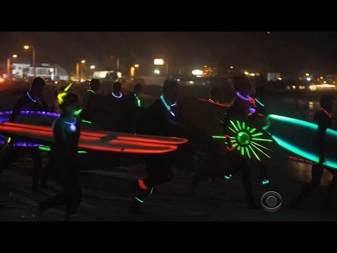 Riding waves in the dark with a new breed of surfers