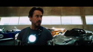 Тони Старк создаёт броню железного человека Mark II  из фильма