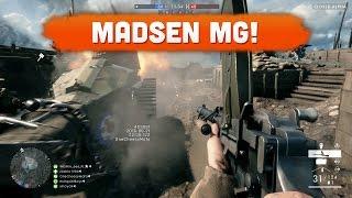 MADSEN MACHINE GUN! - Battlefield 1 (Alpha Gameplay)