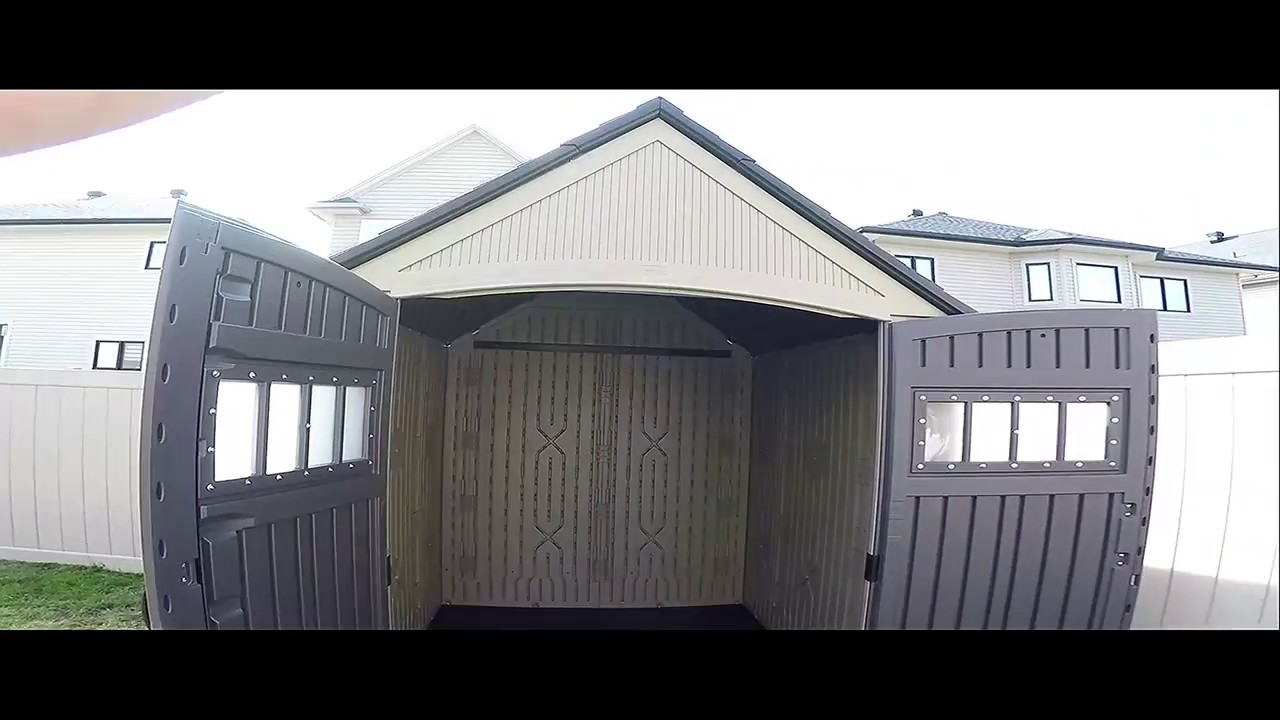 Rubbermaid Roughneck 7 X 7 Shed - build timelapse & walkaround