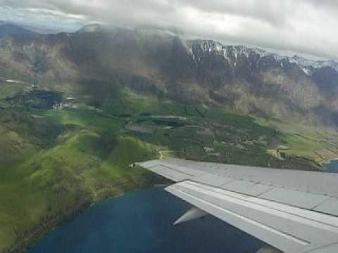 Take off from Queenstown Airport, Queenstown, New Zealand