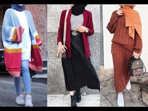b58f173f6 تنسيق ملابس محجبات للشتاء 2019 - Winter Hijab Lookbook - YouTube