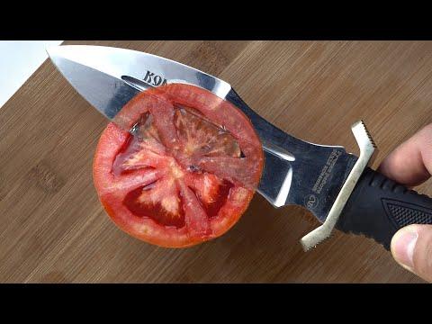Как легко заточить нож до бритвенной остроты