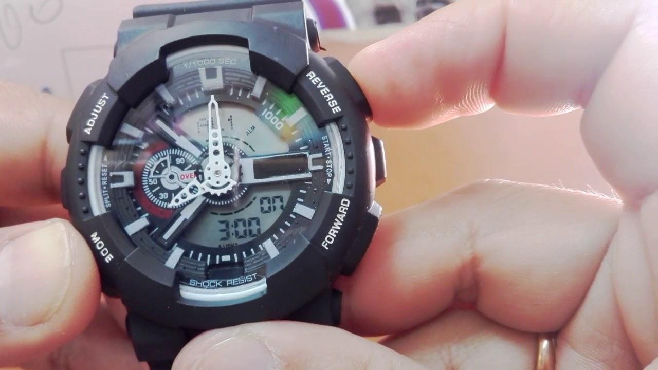 Como Poner La Hora A Un Reloj De Doble Pantalla Casio G Shock Parte 2 Youtube