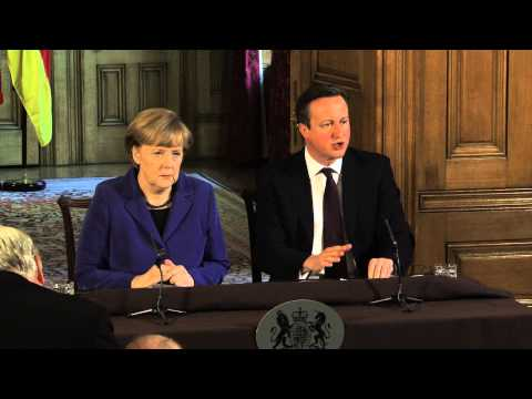 David Cameron and Chancellor Merkel Joint Press Conference