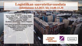 Logistiikan saavutettavuusdata  -infotilaisuus 4.5.2021
