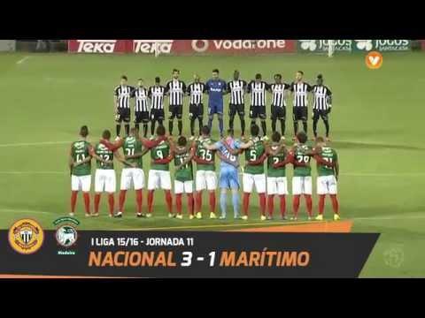 Nacional 3-1 Marítimo: Resumo