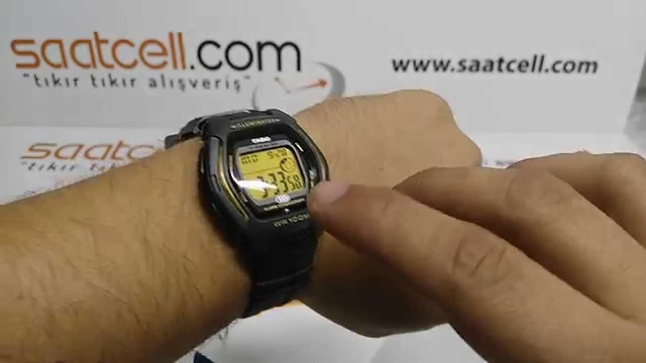 961fc2786fb Casio HDD-600G-9AVDF digital kol saati inceleme ve ayarlama - YouTube