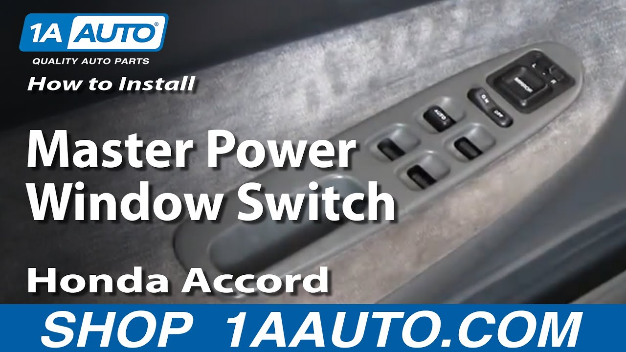 how to install replace master power window switch honda accord 94 97 1aauto com [ 1280 x 720 Pixel ]
