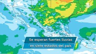 Se prevén condiciones para la formación de torbellinos en Coahuila, Nuevo León y Tamaulipas, y posibles granizadas en 16 estados de la República Mexicana
