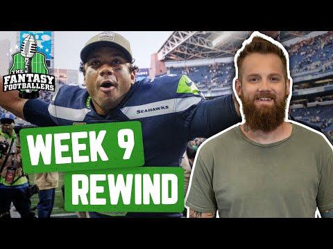 Fantasy Football 2019 - Week 9 Studs & Stinkers + Weekly Rewind, MUSCLE Wilson! - Ep. #810