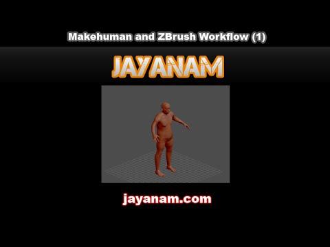 MakeHuman workflow tutorial with ZBrush | JayAnAm - Gamedev tutorials