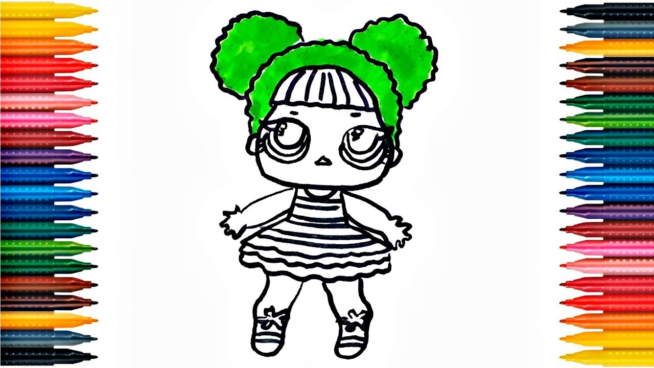 LOL Doll Drawing Coloring Book Fun Painting Art for Kids - YouTube