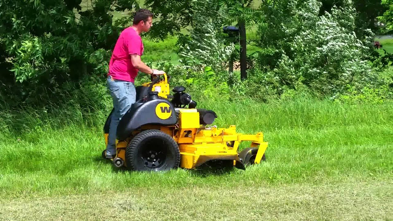 Wright 61 Inch Zk Stander Cutting Grass Youtube