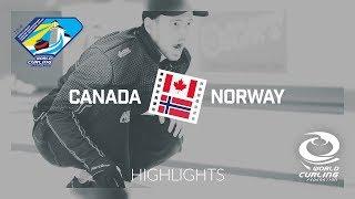 HIGHLIGHTS: Canada v Norway - Men's semi-final - World Junior Curling Championships 2019
