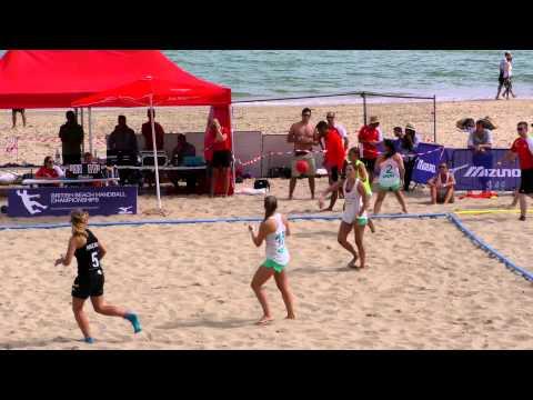 Women's Final - TV Ettlingenweier v Coventry - British Beach Handball Championships 2015 in 4K