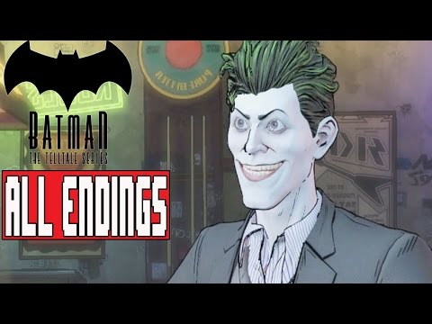 BATMAN TELLTALE EPISODE 5 ALL ENDINGS - Remove Mask/Hidden - Show As Batman/Bruce