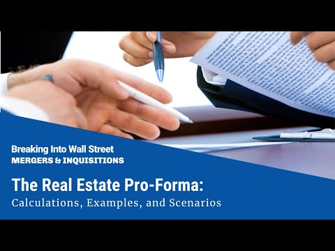 The Real Estate Pro Forma Calculations Examples And Scenarios 2231 Mergers Inquisitions