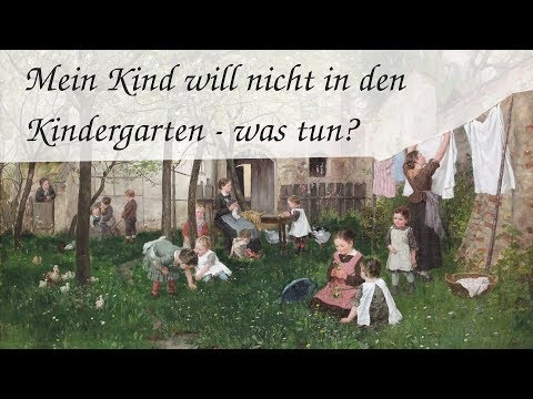 Mein Kind will nicht in den Kindergarten - was tun?
