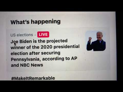 Joe Biden Is 46th President-Elect Of The United States Of America Having Secured Pennsylvania