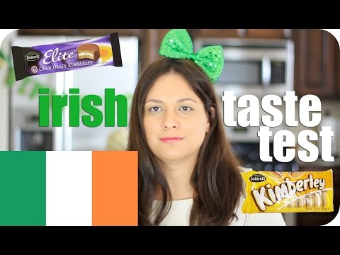 IRISH FOOD TASTE TEST #1 | IRELAND | VIVIAN REACTS