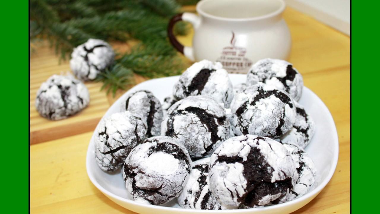 Мраморное шоколадное печенье***Новогодние подарки своими руками