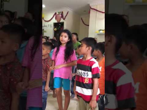 Orphans from the Tsunami and Earthquake in Nias together sing We are The World