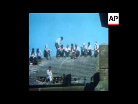 SYND 20-7-72 A RIOT IN THE CRUMLIN JAIL IN BELFAST