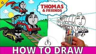 How to Draw Thomas and Friends Step by Step ♦ Gordon the Big Engine ♦ Animated Toy Trains for Kids