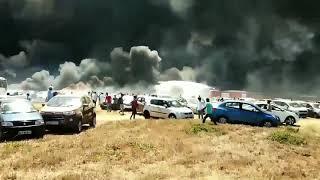 aero india 2019 fire accident - bangalore aero show