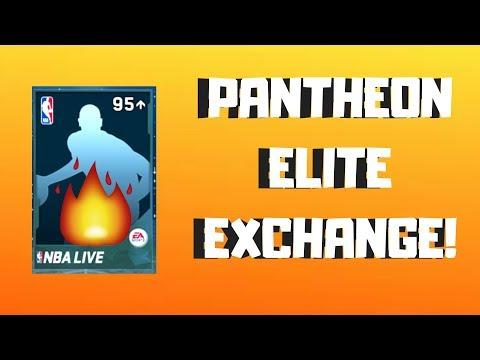 PANTHEON ELITE EXCHANGE PACK OPENING! *EPIC PULL OR NAH?* NBA Live Mobile 18
