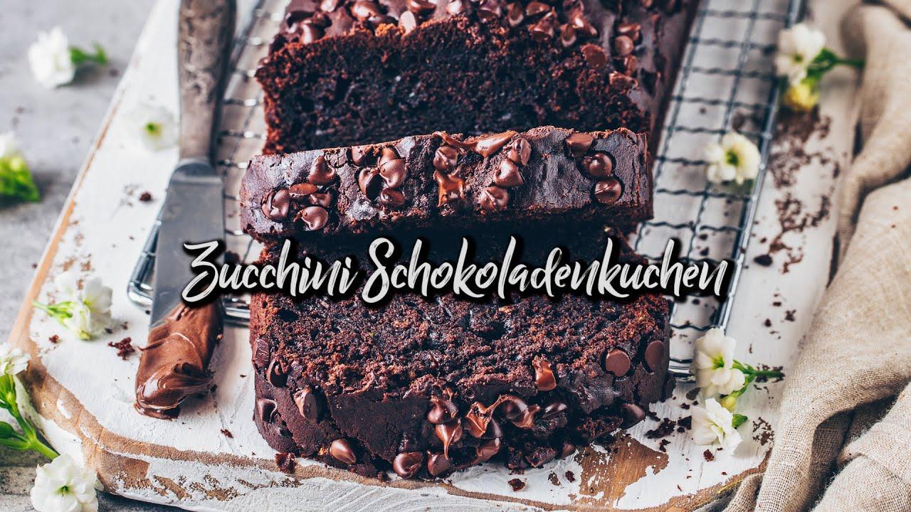 Zucchini Schokoladenkuchen * Rezept - vegan & einfach