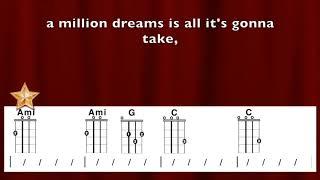 """Million Dreams"" from Greatest Showman Ukulele Playalong"