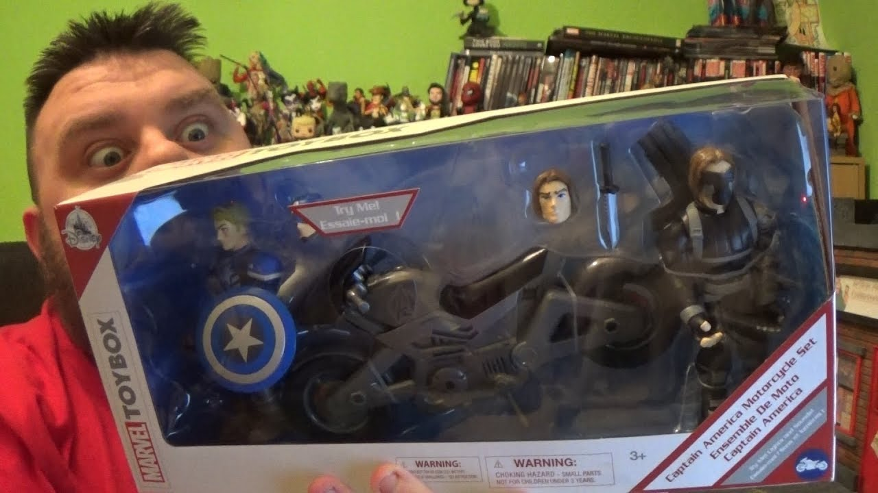 WINTER SOLIDER action figure motorcycle Civil War  NEW Marvel Captain America
