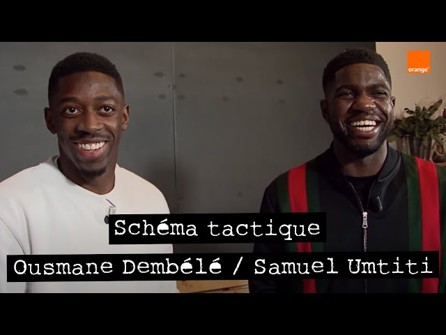 OUSMANE DEMBÉLÉ / SAMUEL UMTITI ⭐️⭐️   Schéma tactique