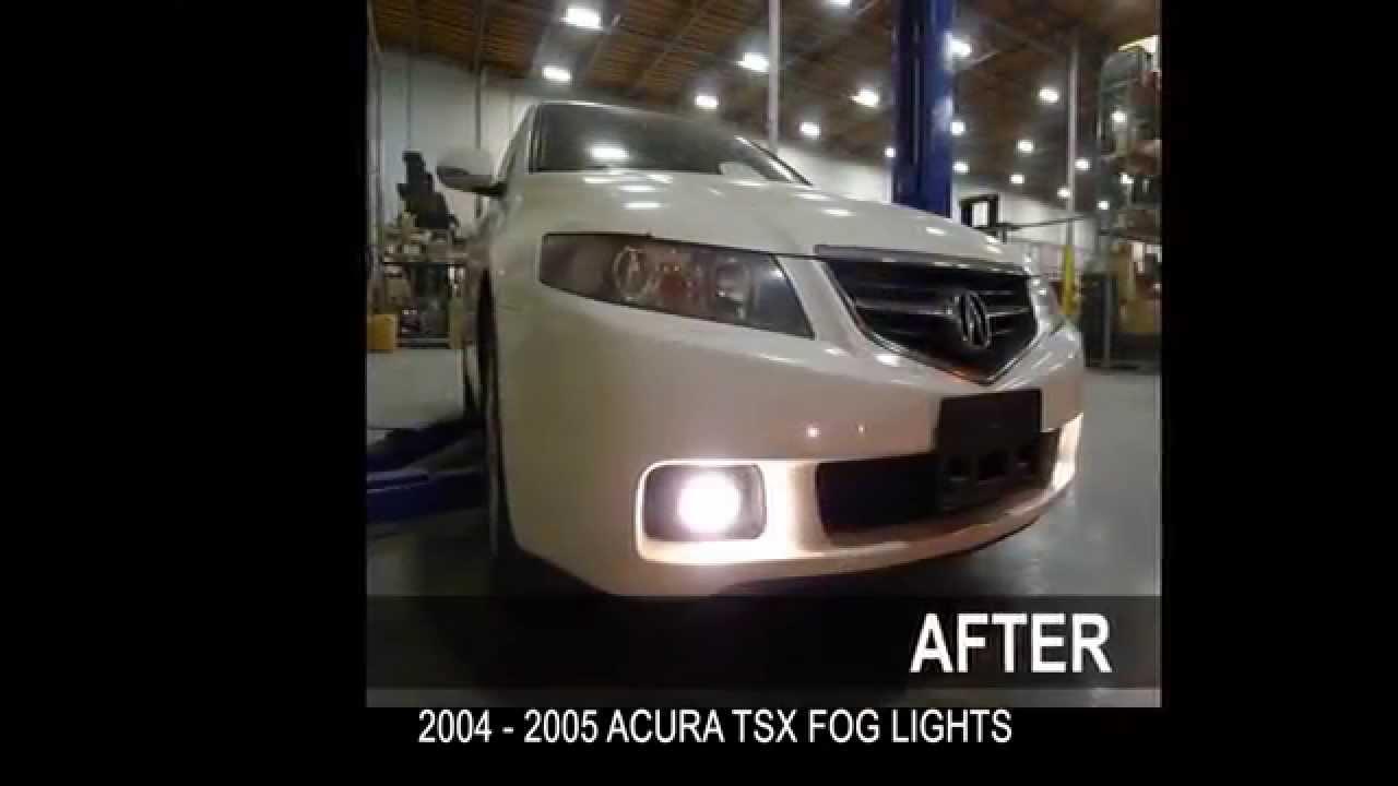 specdtuning installation video 2004 2005 acura tsx fog lights mp4 rh youtube com 2006 Acura TSX Top Speed 2008 Acura TSX