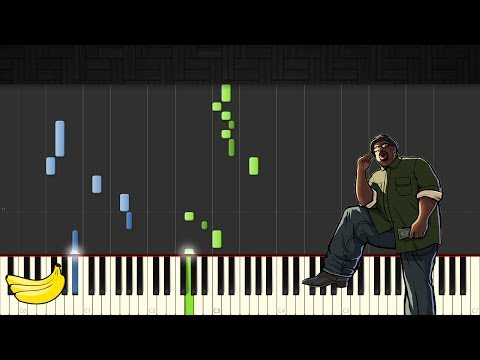 GTA San Andreas Theme Song || Piano Tutorial (Easy) (Synthesia)