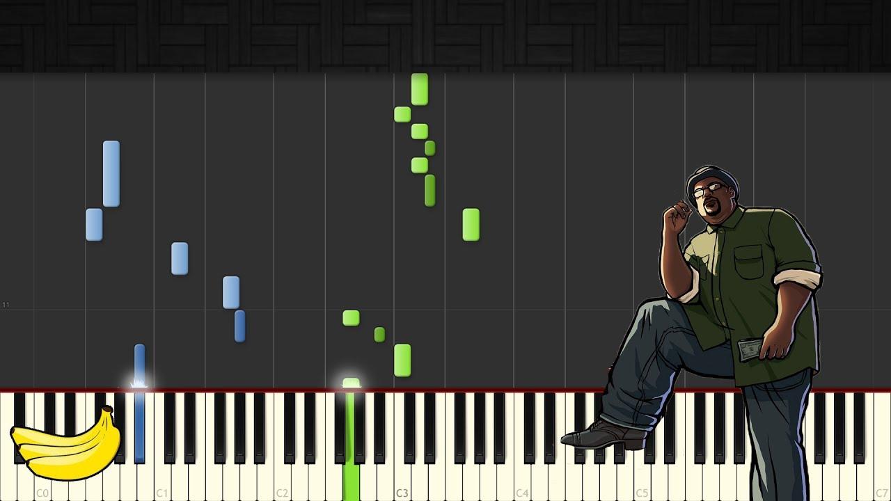 GTA San Andreas Theme Song || Piano Tutorial (Easy) (Synthesia)