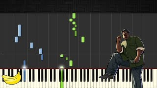 GTA San Andreas Theme Song Piano Tutorial Easy Synthesia