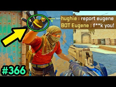 When BOTS ARE TOXIC - CS:GO BEST ODDSHOTS #366