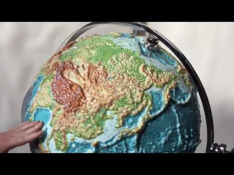 1-World Globes & Maps - Raised Relief Globe