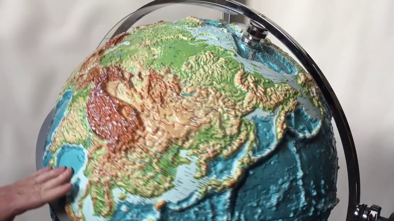 1 world globes maps raised relief globe youtube 1 world globes maps raised relief globe gumiabroncs Choice Image