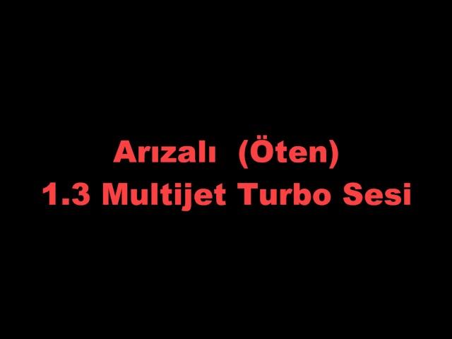 Sağlam ve Arızalı Turbo Sesi Karşılaştırması