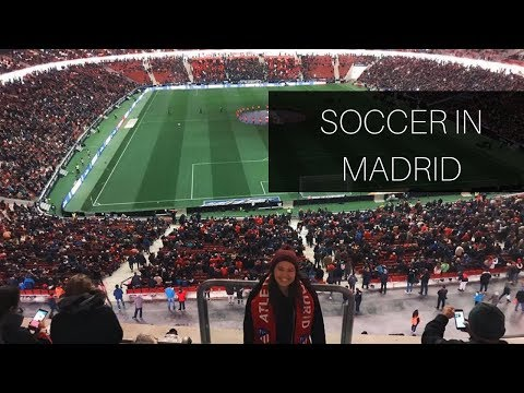 FIRST EUROPEAN SOCCER GAME | Madrid, Spain | Study Abroad Vlog